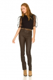 The Kaia |  Studded belt Ava | brown  | Picture 2