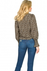 Sofie Schnoor |  Floral smocked blouse Mily | black  | Picture 6