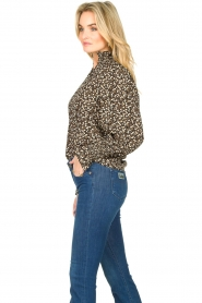 Sofie Schnoor |  Floral smocked blouse Mily | black  | Picture 5