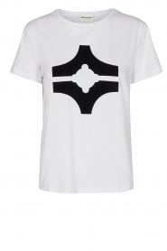 Sofie Schnoor |  T-shirt with logo | white  | Picture 1