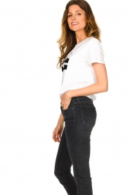 Sofie Schnoor |  T-shirt with logo | white  | Picture 6