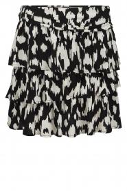 Sofie Schnoor |  Ruffle skirt Shalyla | black  | Picture 1