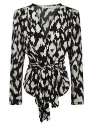 Sofie Schnoor |  Wrap blouse Nieel | black  | Picture 1