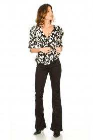 Sofie Schnoor |  Wrap blouse Nieel | black  | Picture 7