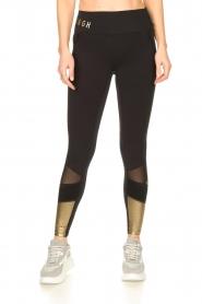 Goldbergh |  Luxurious sport legging Zamora | gold  | Picture 4