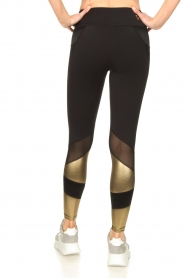 Goldbergh |  Luxurious sport legging Zamora | gold  | Picture 6