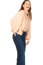 Lolly's Laundry |  Blouse with pleated details Cara | pink  | Picture 5