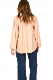 Lolly's Laundry |  Blouse with pleated details Cara | pink  | Picture 6