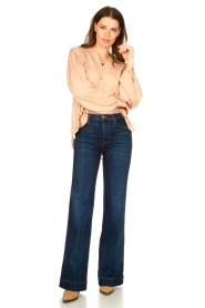 Lolly's Laundry |  Blouse with pleated details Cara | pink  | Picture 3