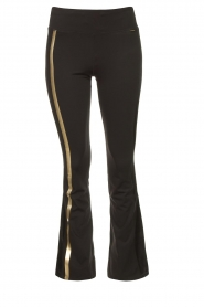 Goldbergh |  Flared sport sweatpants Zefira | black  | Picture 1