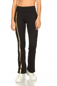 Goldbergh |  Flared sport sweatpants Zefira | black  | Picture 4