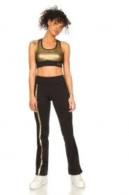 Goldbergh |  Flared sport sweatpants Zefira | black  | Picture 3