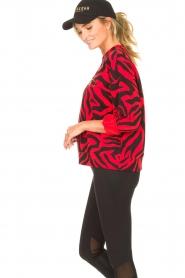 Goldbergh | Sweater met zebraprint Tifani | rood   | Afbeelding 6
