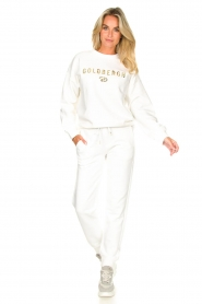 Goldbergh |  Luxurious logo sweater Flavy | white  | Picture 4
