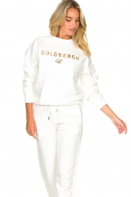 Goldbergh |  Luxurious logo sweater Flavy | white  | Picture 5