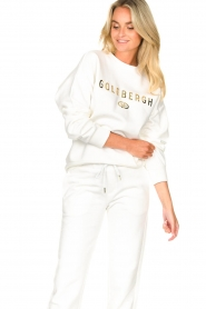 Goldbergh |  Luxurious logo sweater Flavy | white  | Picture 6