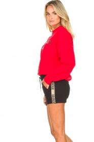 Goldbergh | Luxe logo sweater Flavy | rood   | Afbeelding 5