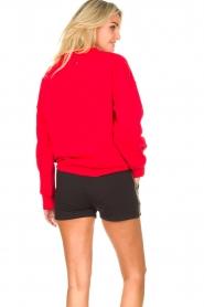 Goldbergh | Luxe logo sweater Flavy | rood   | Afbeelding 6