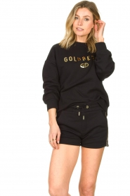 Goldbergh |  Luxurious logo sweater Flavy | black  | Picture 5