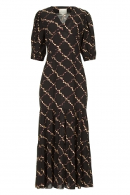 Second Female |  Floral maxi dress Solo | black  | Picture 1