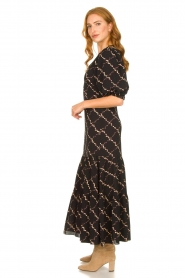 Second Female |  Floral maxi dress Solo | black  | Picture 4