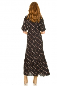 Second Female |  Floral maxi dress Solo | black  | Picture 5