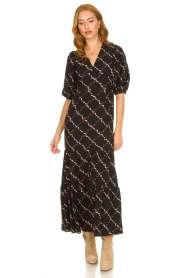 Second Female |  Floral maxi dress Solo | black  | Picture 3