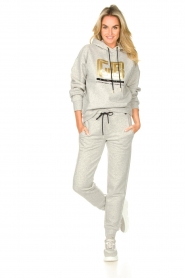 Goldbergh |  Luxurious logo sweater Fiza | grey  | Picture 3