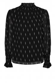 Sofie Schnoor |  Lightning print blouse Miley | black  | Picture 1