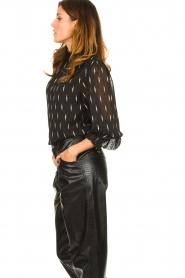 Sofie Schnoor |  Lightning print blouse Miley | black  | Picture 4