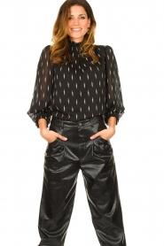 Sofie Schnoor |  Lightning print blouse Miley | black  | Picture 2