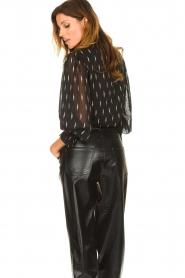 Sofie Schnoor |  Lightning print blouse Miley | black  | Picture 6