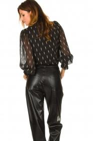 Sofie Schnoor |  Lightning print blouse Miley | black  | Picture 5