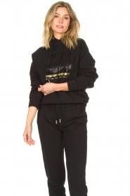 Goldbergh |  Luxurious logo sweater Fiza | black  | Picture 6
