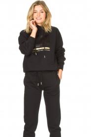 Goldbergh |  Luxurious logo sweater Fiza | black  | Picture 4