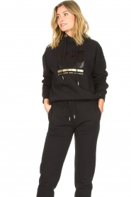 Goldbergh |  Luxurious logo sweater Fiza | black  | Picture 5