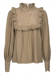 Sofie Schnoor |  Broderie blouse Lala | camel  | Picture 1