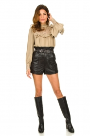 Sofie Schnoor |  Broderie blouse Lala | camel  | Picture 3