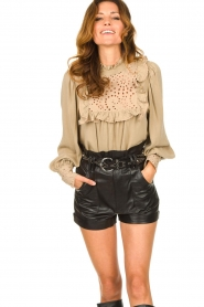 Sofie Schnoor |  Broderie blouse Lala | camel  | Picture 6