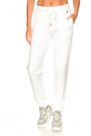 Goldbergh |  Sport sweatpants Fania | white  | Picture 4