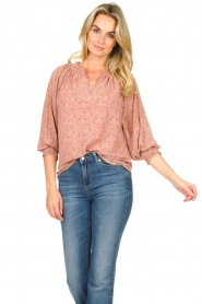 JC Sophie |  Floral blouse Enzo | pink  | Picture 2