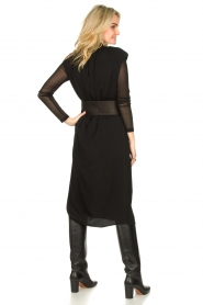 JC Sophie |  Midi dress with shoulder pads Fergie | black  | Picture 5