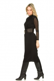 JC Sophie |  Midi dress with shoulder pads Fergie | black  | Picture 4