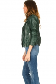 Set |  Leather biker jacket Tyler | green  | Picture 6