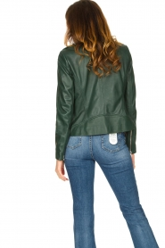 Set |  Leather biker jacket Tyler | green  | Picture 7