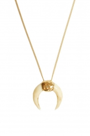 Mimi et Toi |  18k gold plated necklace Lune Miracle blanche | gold  | Picture 1