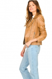 Set |  Leather biker jacket Charlie | camel  | Picture 6