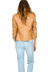 Set |  Leather biker jacket Charlie | camel  | Picture 7