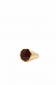 Mimi et Toi |  18k gold plated ring Medium Oval Resin | gold  | Picture 1