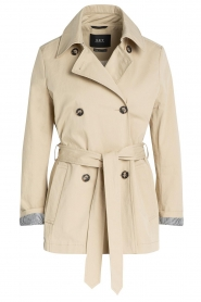 Set |  Short cotton trench coat Chrissy | beige  | Picture 1